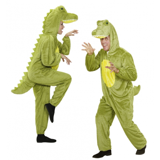 Onesie dierenpak krokodil. luxe krokodillen kostuum bestaande uit 1 geheel. het kostuum is gemaakt van pluche....