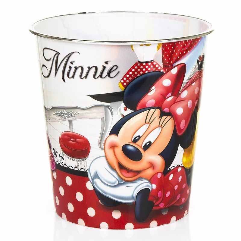 Minnie Mouse Vuilnisbakje Wit/rood