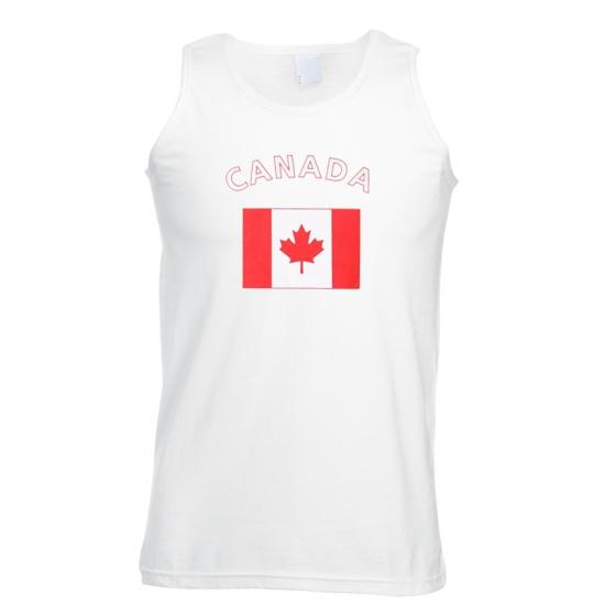 Mouwloos t shirt met Canadese vlag Shoppartners beste prijs