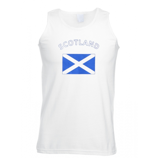 Shoppartners Mouwloos t shirt met Schotse vlag Landen versiering en vlaggen