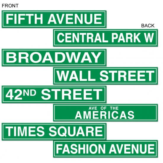 New York muurdecoratie bordjes