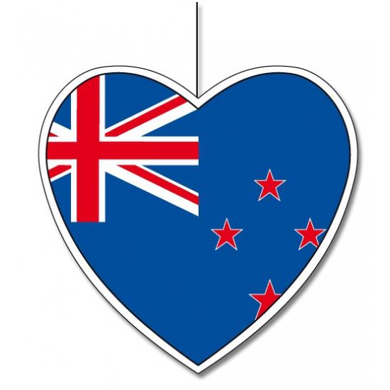 Nieuw Zeelands decoratie hart 30 cm