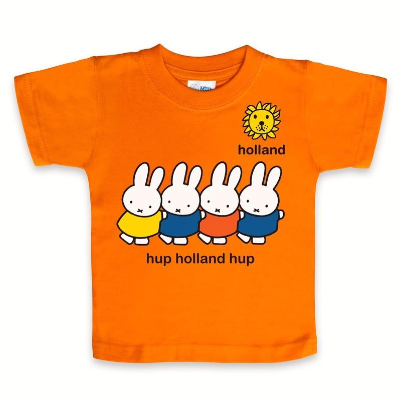 Nijntje Nijntje baby t shirt oranje T shirts en poloshirts