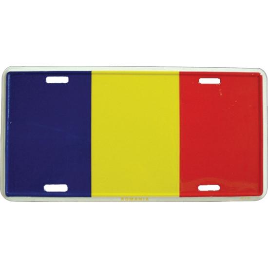 Geen Nummerbord Roemenie Landen versiering en vlaggen
