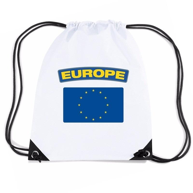 Nylon sporttas Europese vlag wit