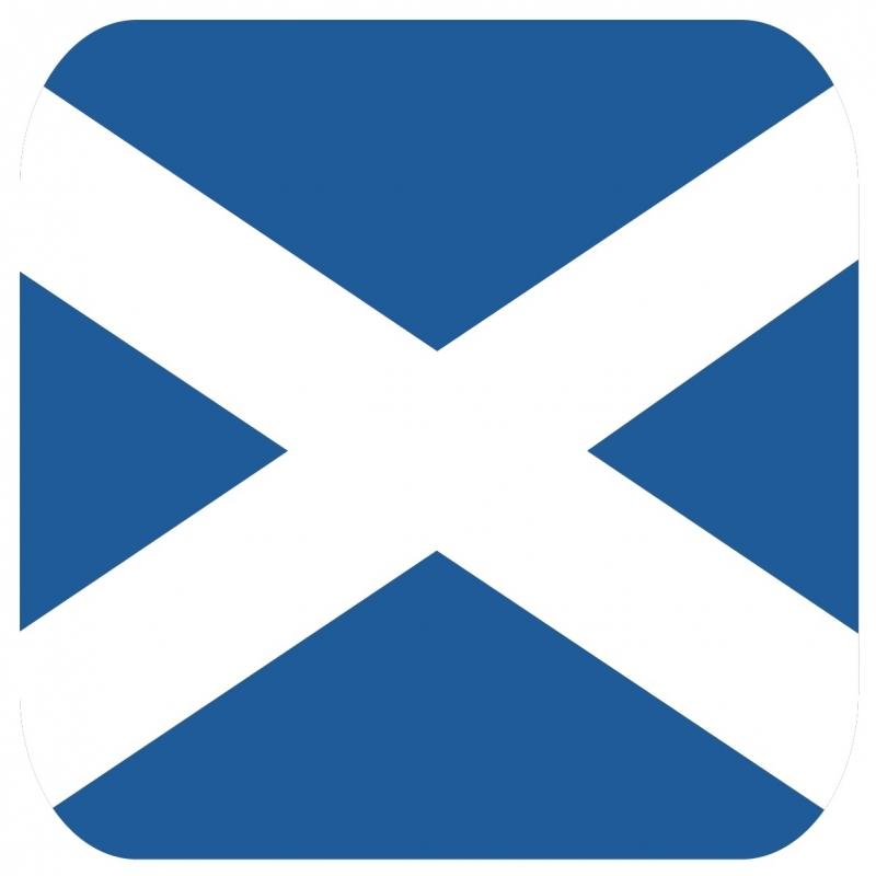 Landen versiering en vlaggen Shoppartners Onderzetters voor glazen met Schotse kleuren 15 st
