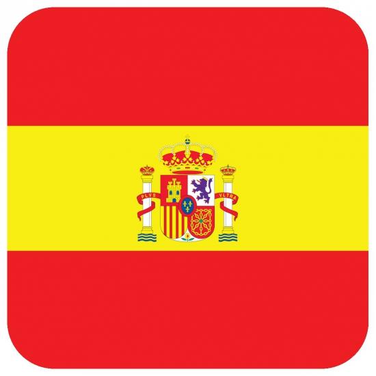 Onderzetters voor glazen met Spaanse kleuren 15 st Shoppartners Beste kwaliteit