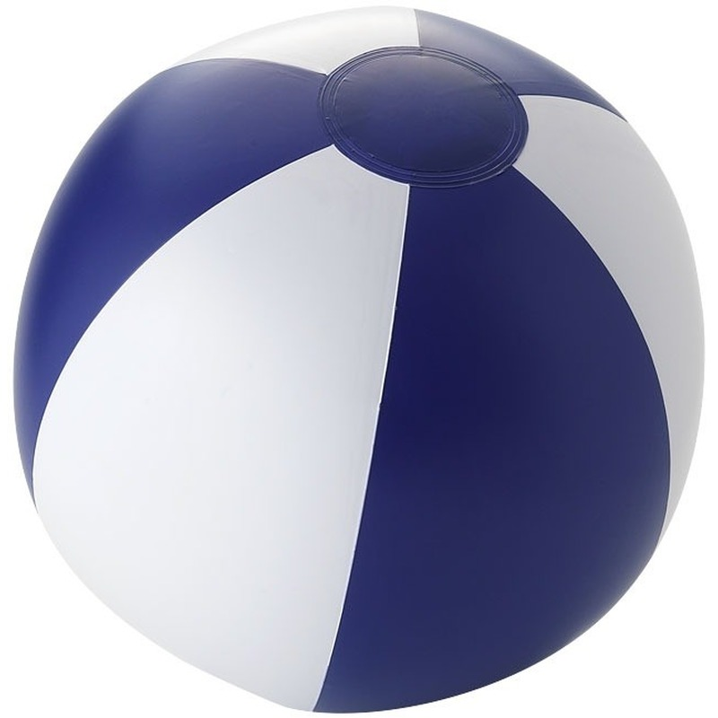 Opblaasbare strandbal blauw/ wit