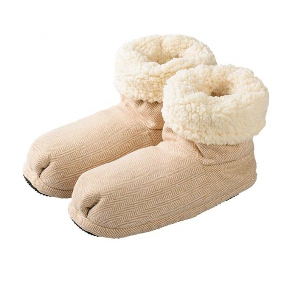 Sloffen en Pantoffels Geen Opwarmbare damessloffen beige