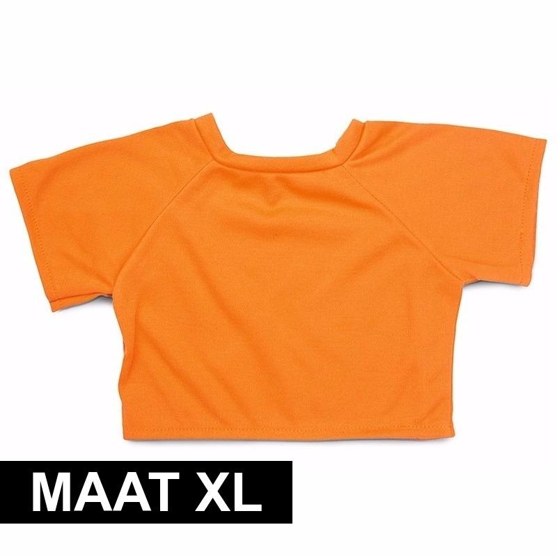Oranje Shirt Xl Voor Clothies Knuffeldier 22 X 20 Cm