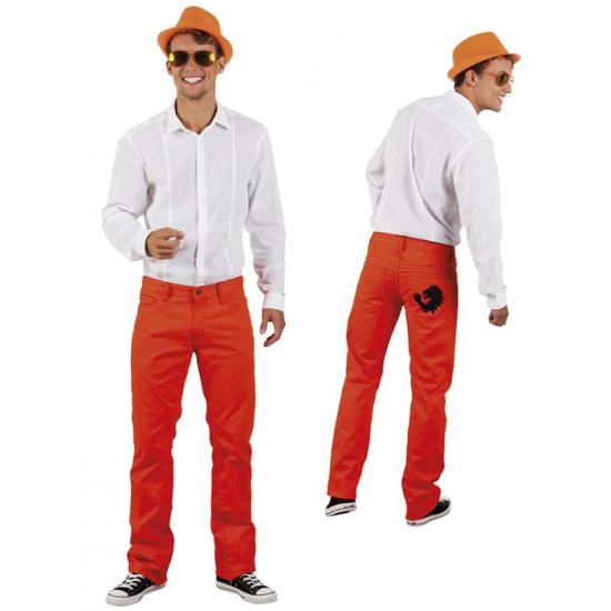 Oranje spijkerbroeken voor heren