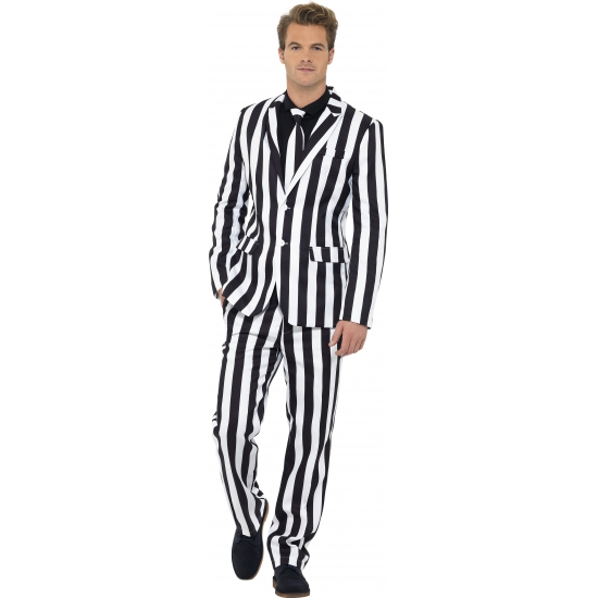 Humbug heren kostuum. dit 3 delig heren kostuum met colbert, broek en stropdas heeft een all over print van ...