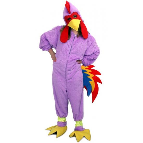 Onesie paarse kip. onesie kostuum van een paarse kip gemaakt van pluche. het kostuum is geschikt voor ...