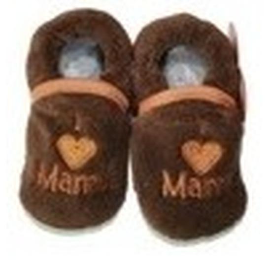 Babyslofjes Pantoffels sloffen love mama bruin voor babies Sloffen en Pantoffels