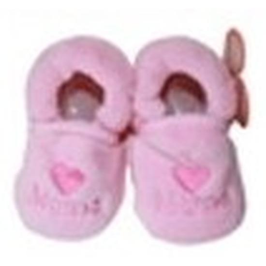 Sloffen en Pantoffels Babyslofjes Pantoffels sloffen love mama lichtroze voor babies