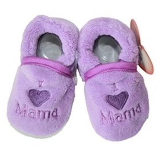 Sloffen en Pantoffels Babyslofjes Pantoffels sloffen love mama paars voor babies