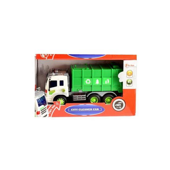 Speelgoedvoertuigen Papier recycle wagen met licht en geluid