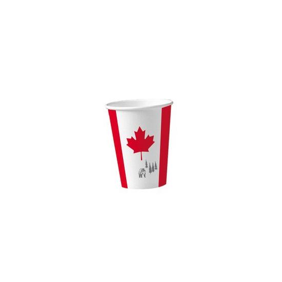 Papieren Canada bekers 8 st Geen Landen versiering en vlaggen
