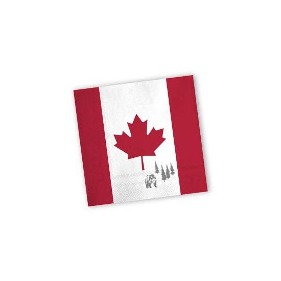 Landen versiering en vlaggen Papieren Canada servetten 20 st