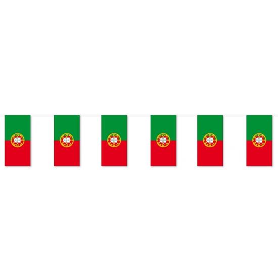 Geen Papieren vlaggenlijn Portugal Landen versiering en vlaggen