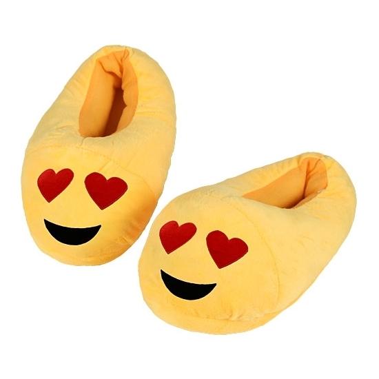 Sloffen en Pantoffels Geen Pluche emoticon kindersloffen hartjesogen