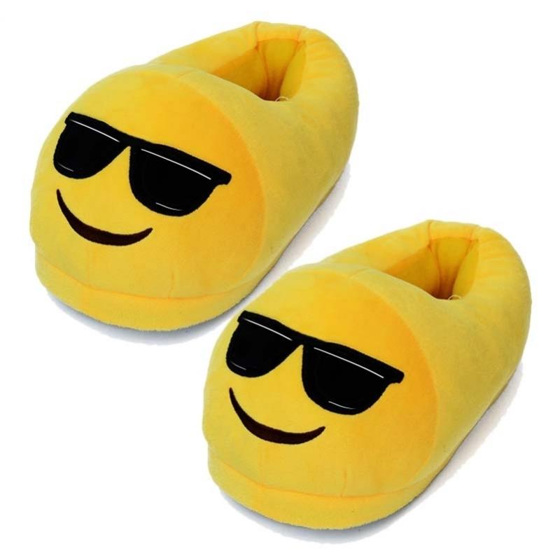 Pluche emoticon sloffen zonnebril Geen Beste kwaliteit