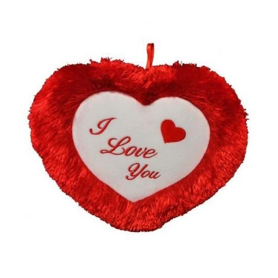 Pluche hartjes kussen I Love you 45 cm Geen Kussens