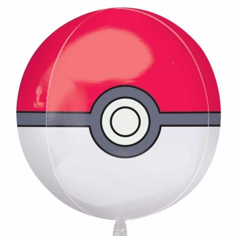 Pokeball folie ballon 40 cm