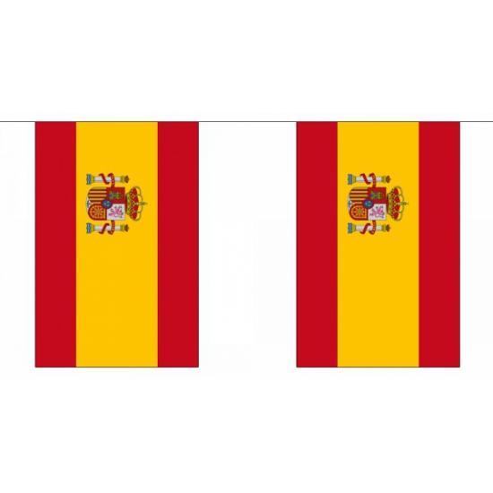 Landen versiering en vlaggen Geen Polyester spanje vlaggenlijn