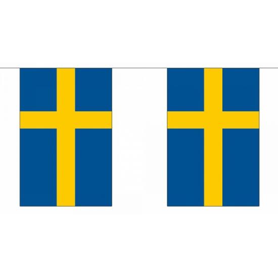 Polyester vlaggenlijn Zweden Geen Koopje