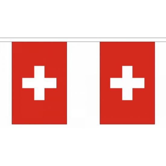 Landen versiering en vlaggen Polyester vlaggenlijn Zwitserland
