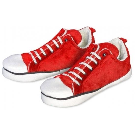 Sloffen en Pantoffels Geen Rode lage sportschoen sloffen voor dames