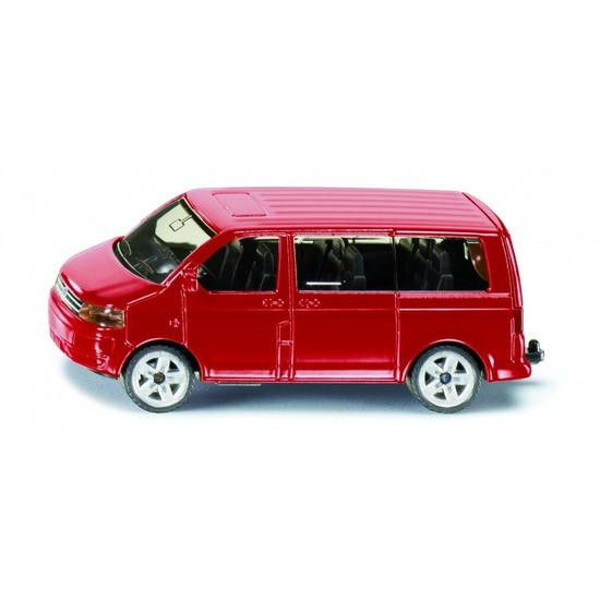 Speelgoedvoertuigen Siku Rode Siku Volkswagen Transporter modelauto 1070