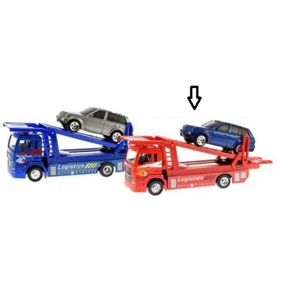 Speelgoedvoertuigen Geen Rode takelwagen met auto
