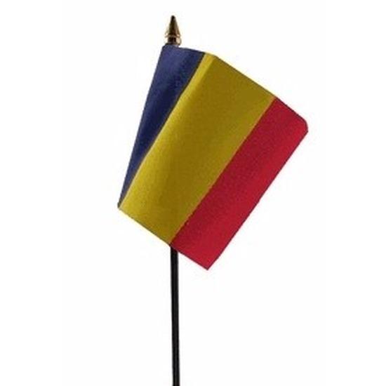 Landen versiering en vlaggen Geen Roemenie vlaggetje polyester
