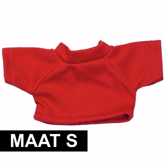 Rood Shirt S Voor Clothies Knuffeldier 10 X 8 Cm