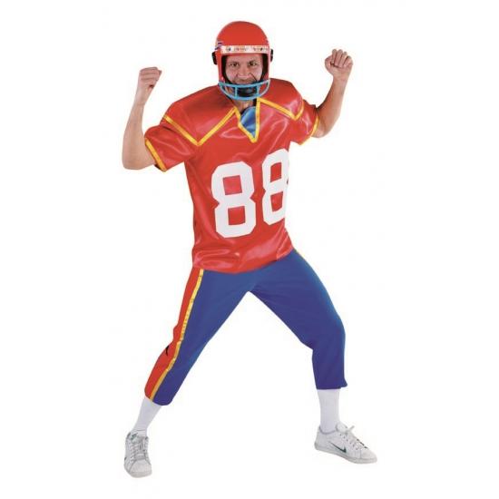 American football speler kostuum. met dit kostuum waan je je echt een american football speler! het kostuum ...