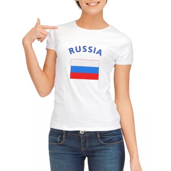Landen versiering en vlaggen Shoppartners Rusische vlag t shirt voor dames