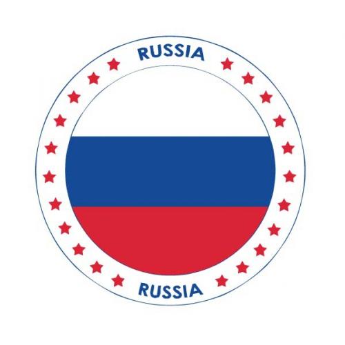 Rusland thema bierviltjes Shoppartners Landen versiering en vlaggen