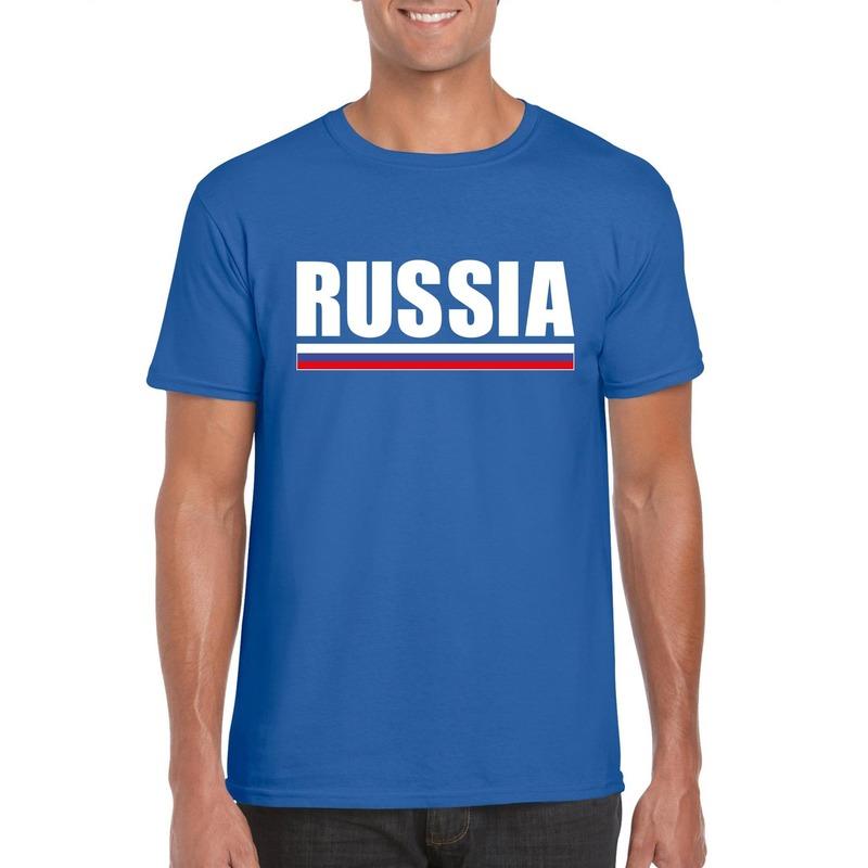 Russische supporter t shirt blauw voor heren Shoppartners Landen versiering en vlaggen