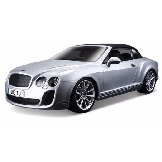 Speelgoedvoertuigen Bburago Schaalmodel Bentley Continental cabrio 1 18 rood