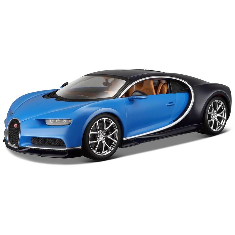 Schaalmodel Bugatti Chiron 1 24 blauw Maisto Speelgoedvoertuigen