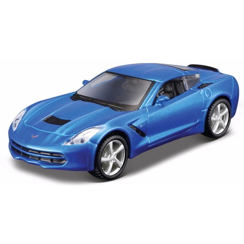 Schaalmodel Chevrolet Corvette 2014 1 32 blauw Maisto Koopje