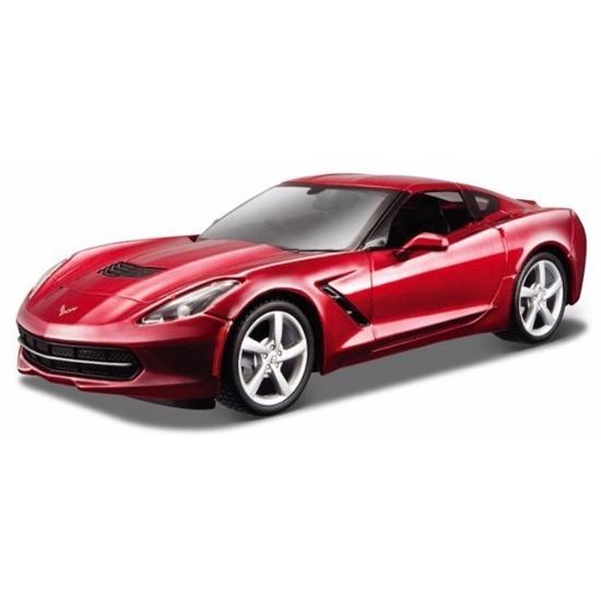 Speelgoedvoertuigen Bburago Schaalmodel Chevrolet Corvette 2014 1 43 rood