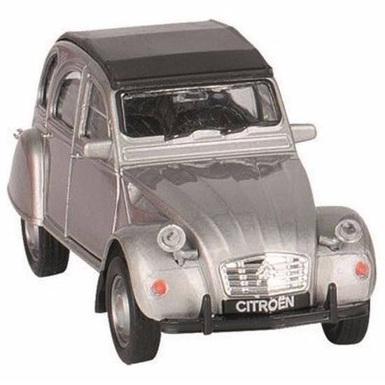 Speelgoedvoertuigen Schaalmodel Citroen 2CV zilver gesloten dak 1 36