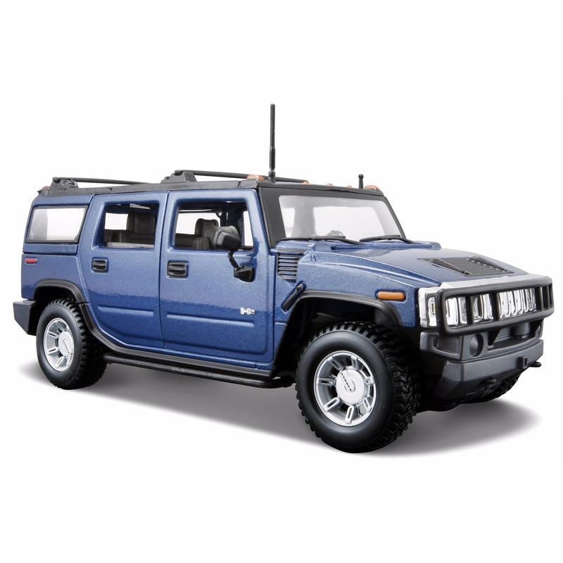 Schaalmodel Hummer H2 blauw 1 24 Maisto Speelgoedvoertuigen