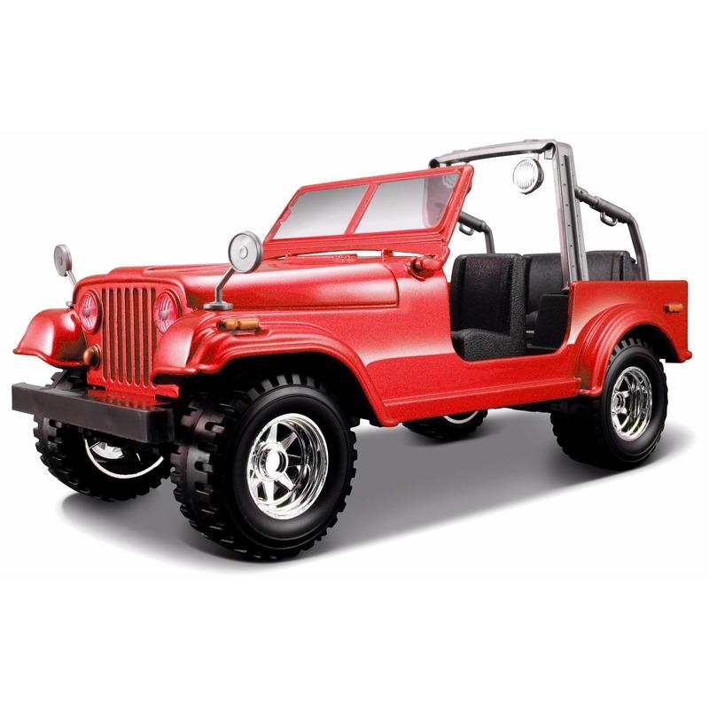 Speelgoedvoertuigen Bburago Schaalmodel Jeep Wrangler cabrio 1 24