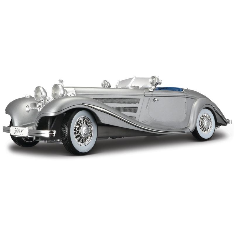 Schaalmodel Mercedes 500K cabriolet 1936 1 18 Maisto Speelgoedvoertuigen