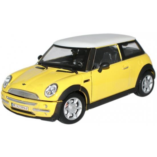 Speelgoedvoertuigen Bburago Schaalmodel Mini Cooper geel 1 24