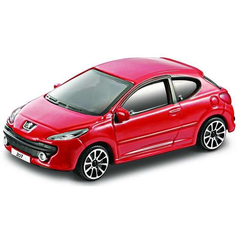 Schaalmodel Peugeot 207 rood 1 43 Bburago Speelgoedvoertuigen